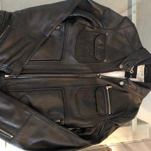 D&G Men's Leather Bomber